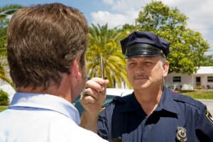 The horizontal gaze nystagmus test, which asks subjects to follow an object (such as a pen) with their eyes, is one of several tests used by officers roadside during DUI stops to test for drunk driving.